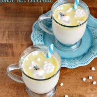 FROZEN Olaf's White Hot Chocolate Drink Recipe - Mom By The Beach