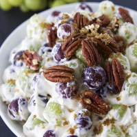 Creamy Grape Salad | FITNESS FOOD DIVA