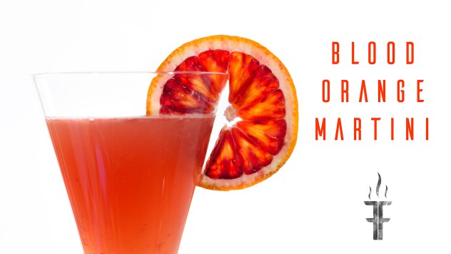 How to make a fresh blood orange martini from scratch.