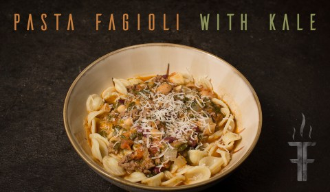 Pasta Fagioli with Kale