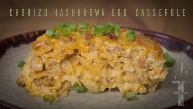 Video on how to make Chorizo Hashbrown and Egg Casserole.