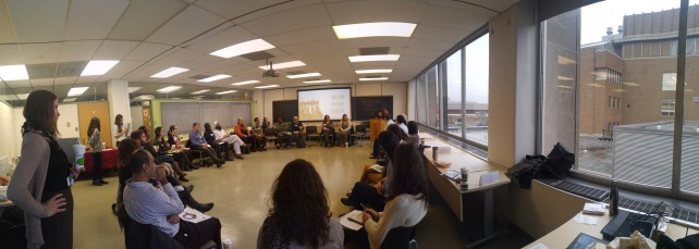 Our learning circle, immersing in indigenous lessons from Maria Montejo. Photo by Omar Elsharkawy.