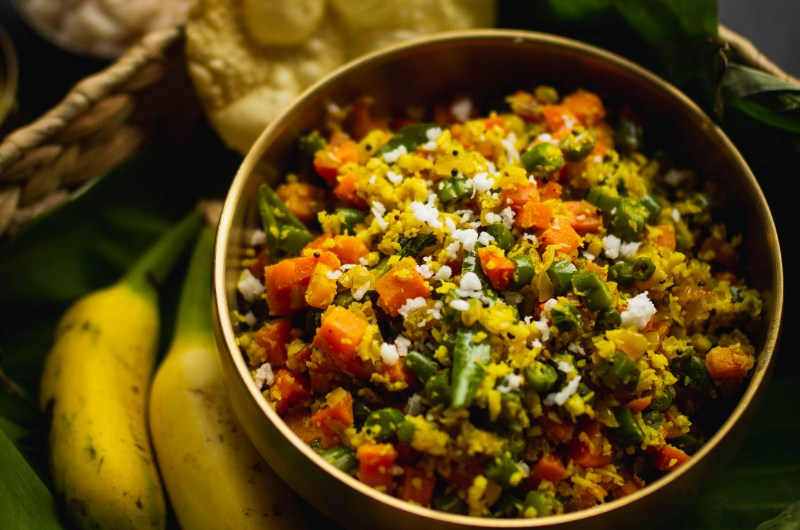 Carrot and Beans Thoran