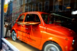 Fabulous pizzeria window display, Notting Hill, London