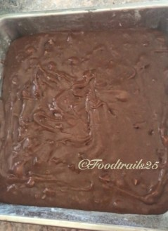 Transfer into a square/rectangular pan and bake