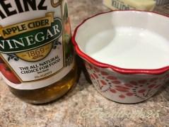Make buttermilk using milk and vinegar