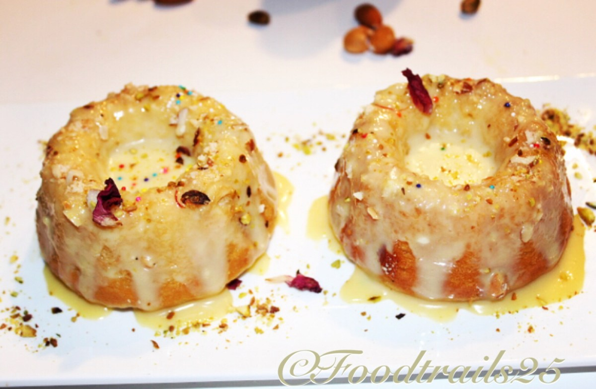 Thandai Flavoured Mini Bundts Mawa Cakes(Eggless)!!