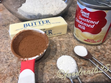 Ingredients for Eggless Chocolate Cake