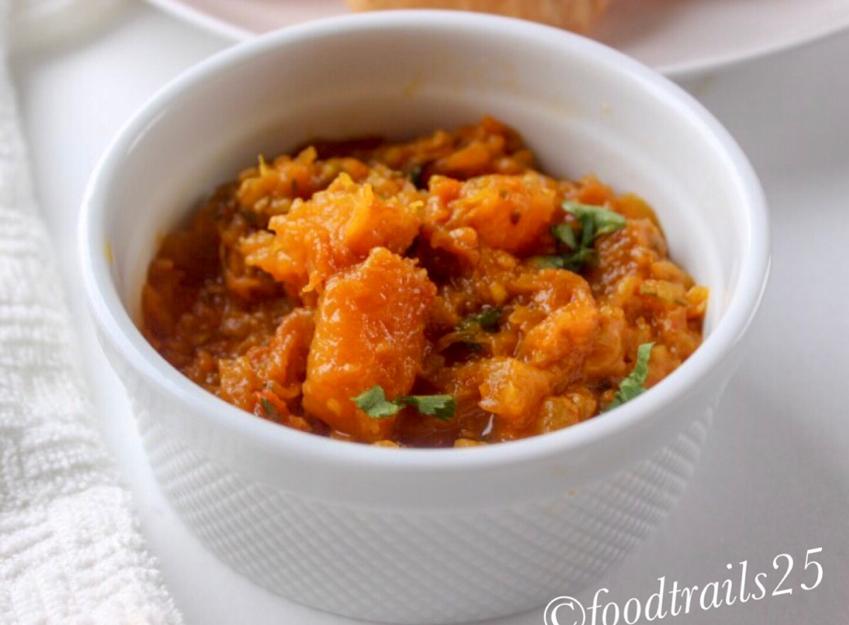 Khatta Meetha Kaddu(Sweet and Sour Pumpkin Indian Style)