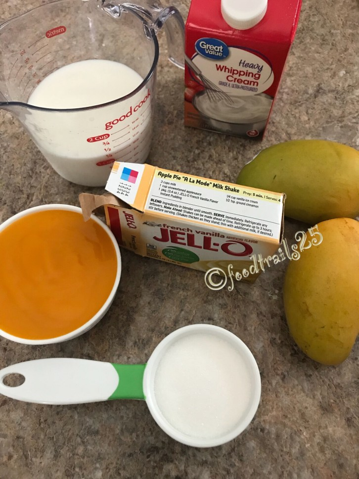 Ingredients for Mago Mousse