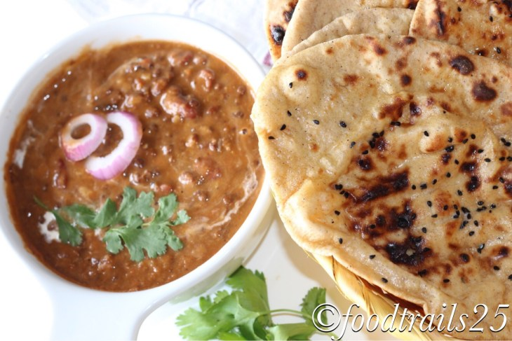 Creamy and Buttery Dal Makhani with Whole Wheat Naan