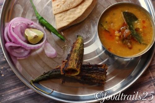 Dal Tadka with Bharwaan Karele