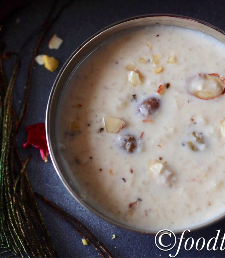 Chawal Ki Kheer(Indian Rice Pudding)