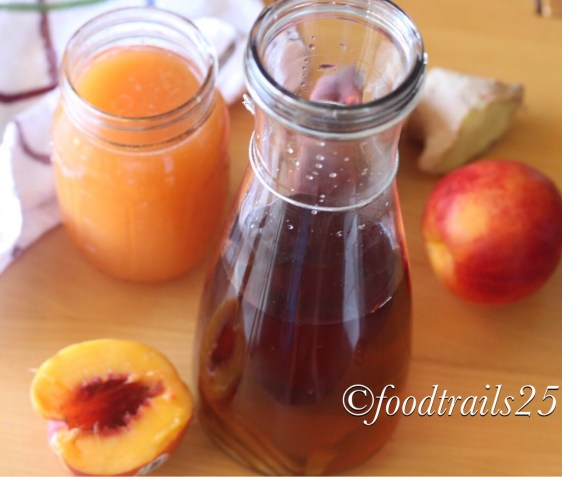 Giner Iced Tea and Peach Sugar Syrup