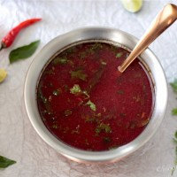 Tomato and Beetroot Rasam