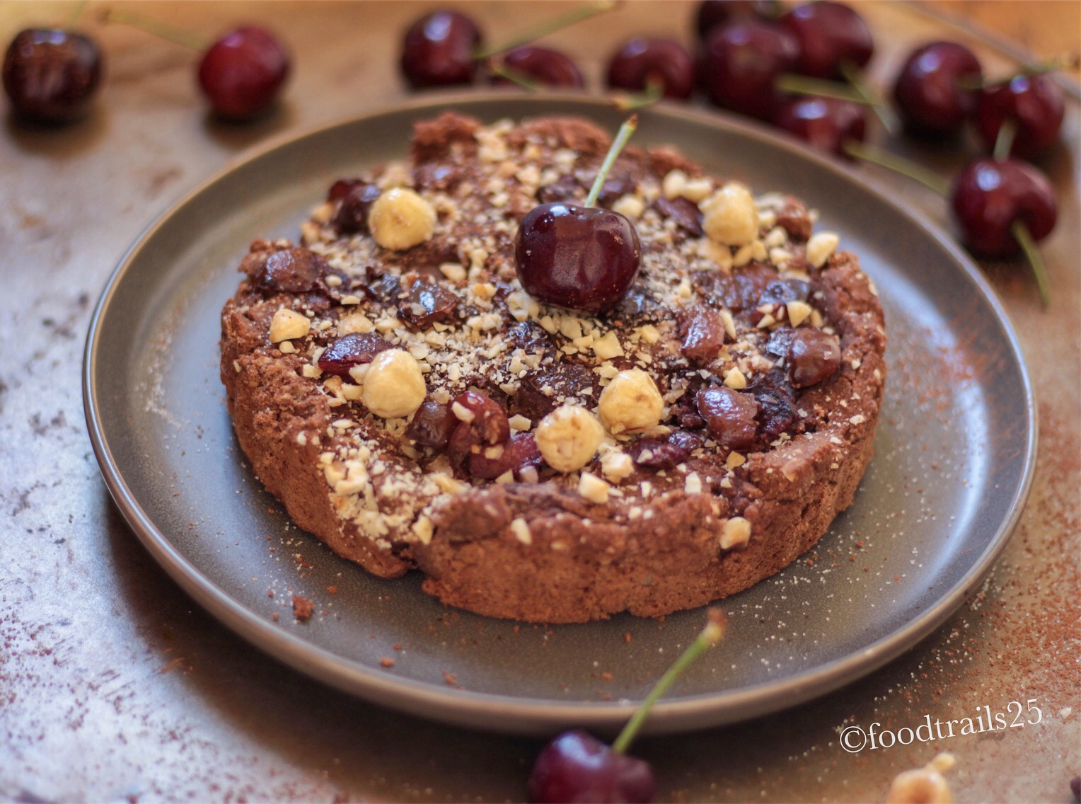 Chocolate Cherry And Hazelnuts Cake (with Coconut Flour) - Food-trails