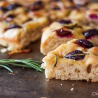Rosemary Focaccia with Cherries