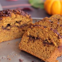 Nutella Swirl Pumpkin Choco Chips Bread