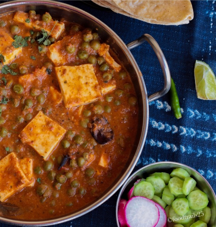No Onion-Garlic Matar Paneer recipe