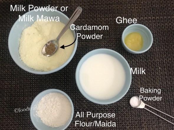 Ingredients for Gulab Jamun