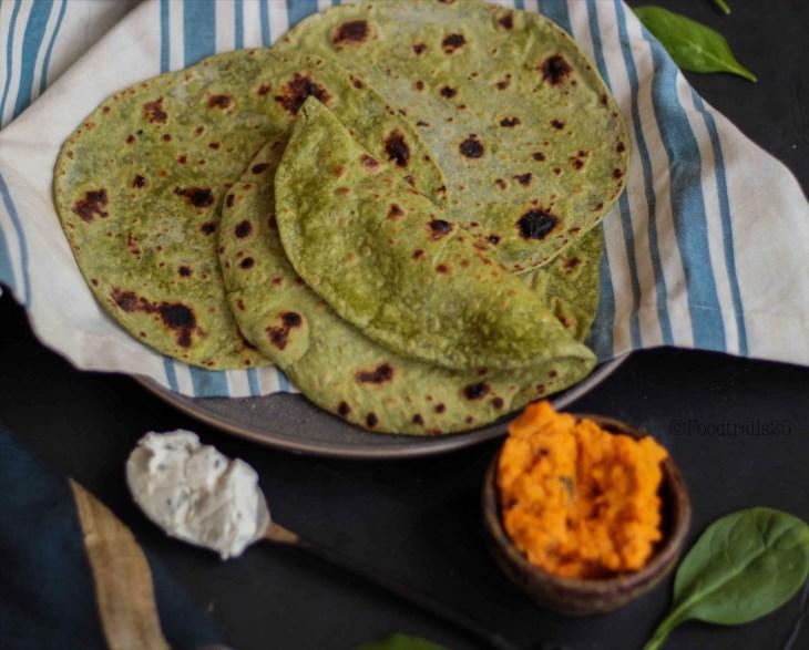 Spinach Tortilla with Multigrain Flour