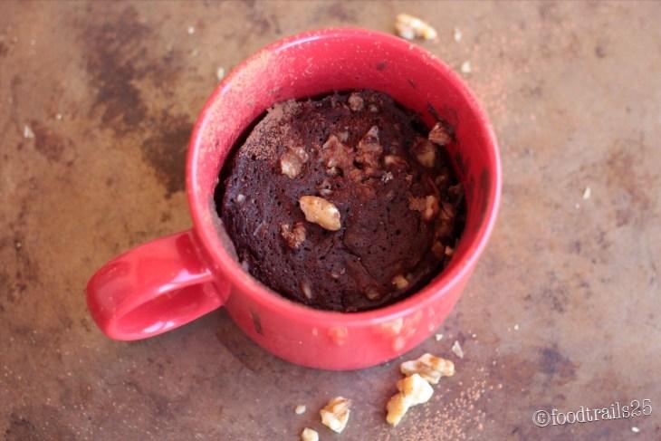 Walnut Brownie Mug Cake