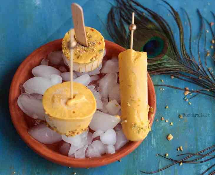 Mango Badam Kulfi