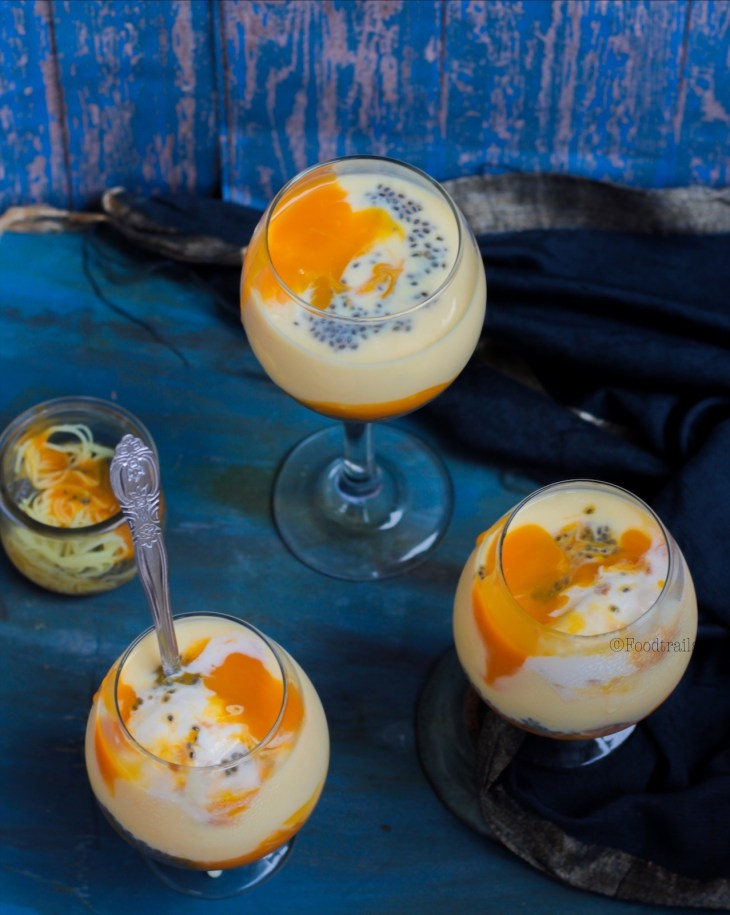 Falooda with Mango Puree and Custard