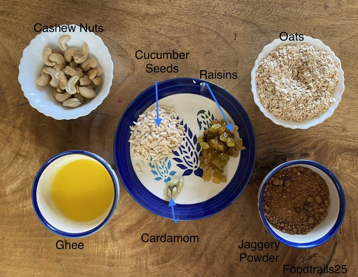 Ingredients Oats Ladoo