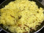 Zafrani Pulao is ready to serve