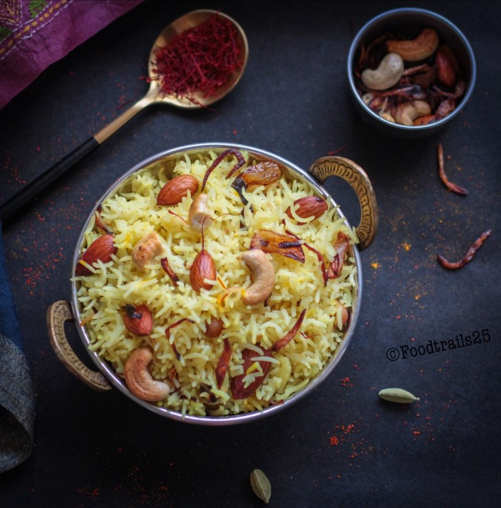 Zafrani Pulao/ Indian Saffron Pulao