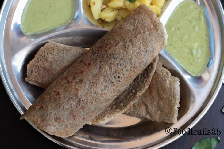 Vrat Dosa(Kuttu Atta and Sama Rice