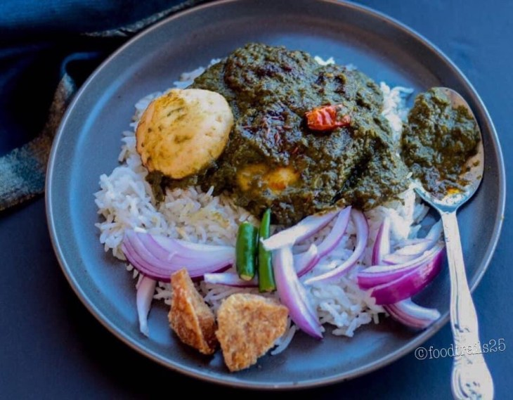 Kale and Spinach saag with Paneer Koftas