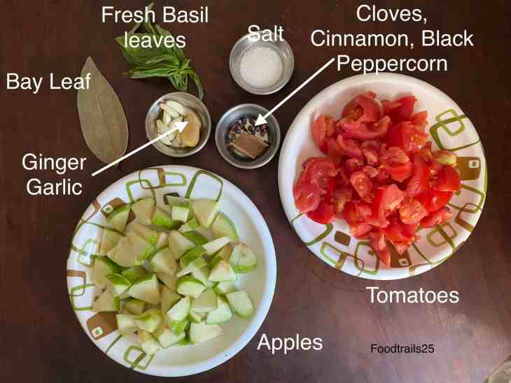 Ingredients for Tomato Apple Soup