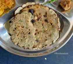 Bajra Roti with Green Garlic