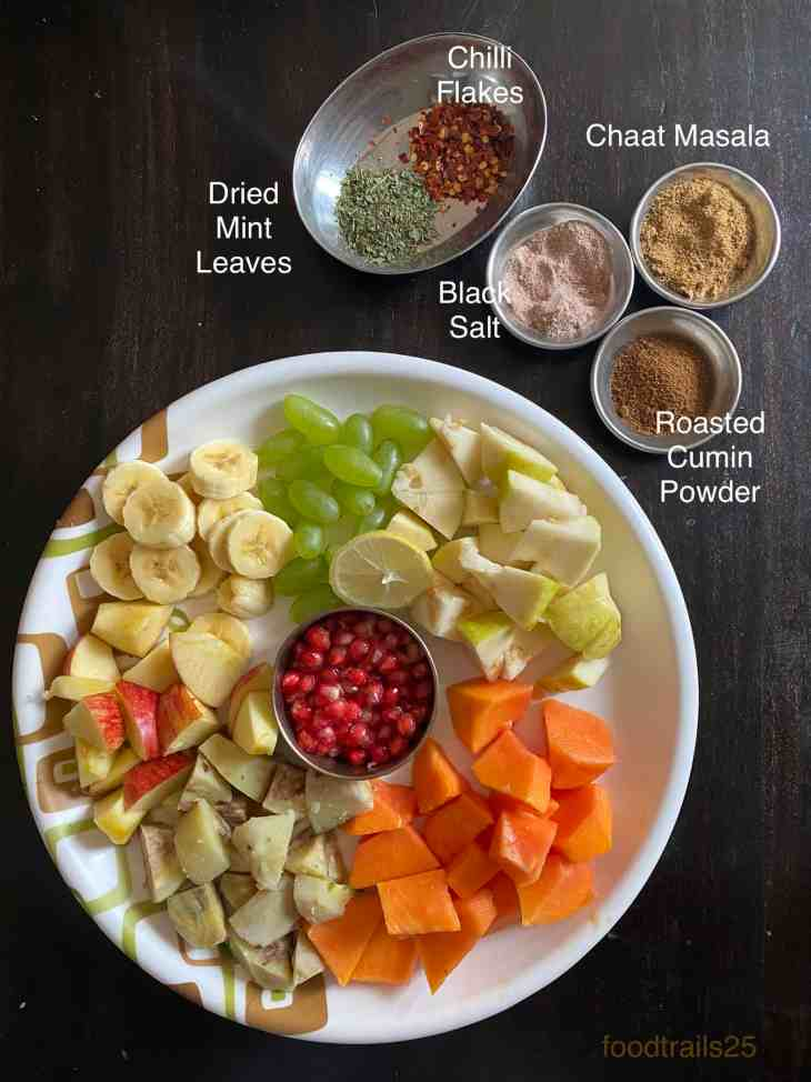 Ingredients Fruit chaat