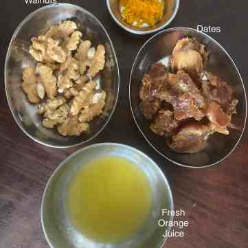 Ingredients for Dates Filling