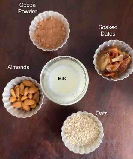 ingredients Chocolate Almond Milkshake