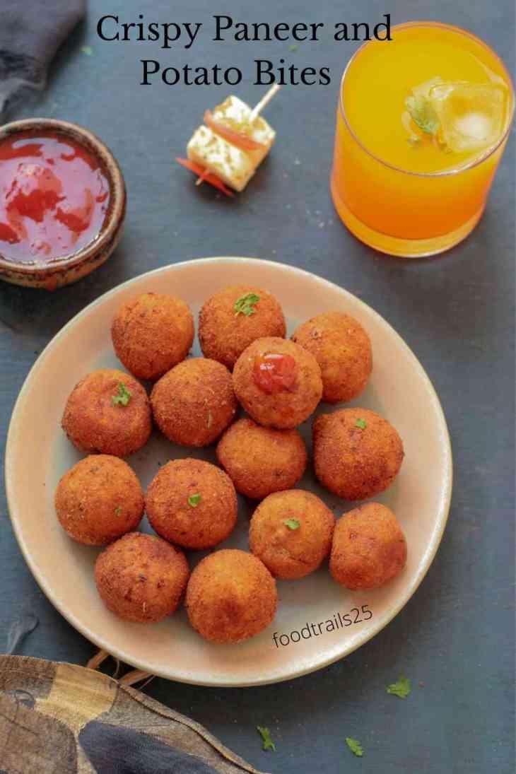 Crispy Paneer and Potato Bites
