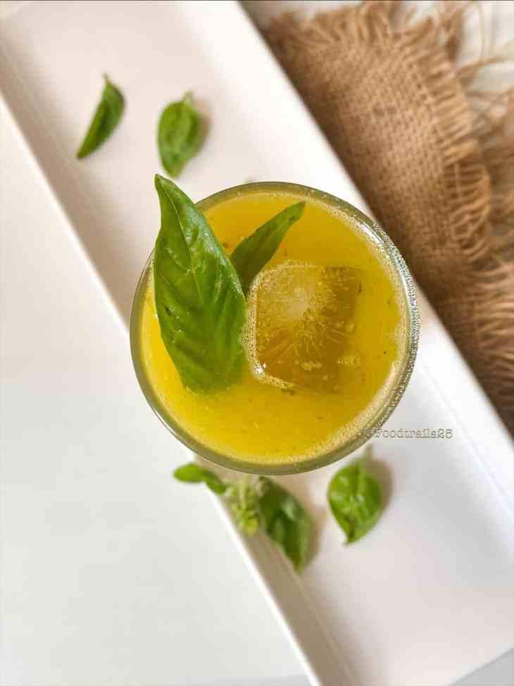 Mango Basil Agua Fresca