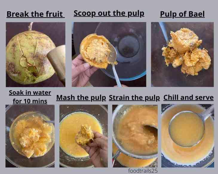 Steps to make Bael Sharbat/Wood Apple Juice