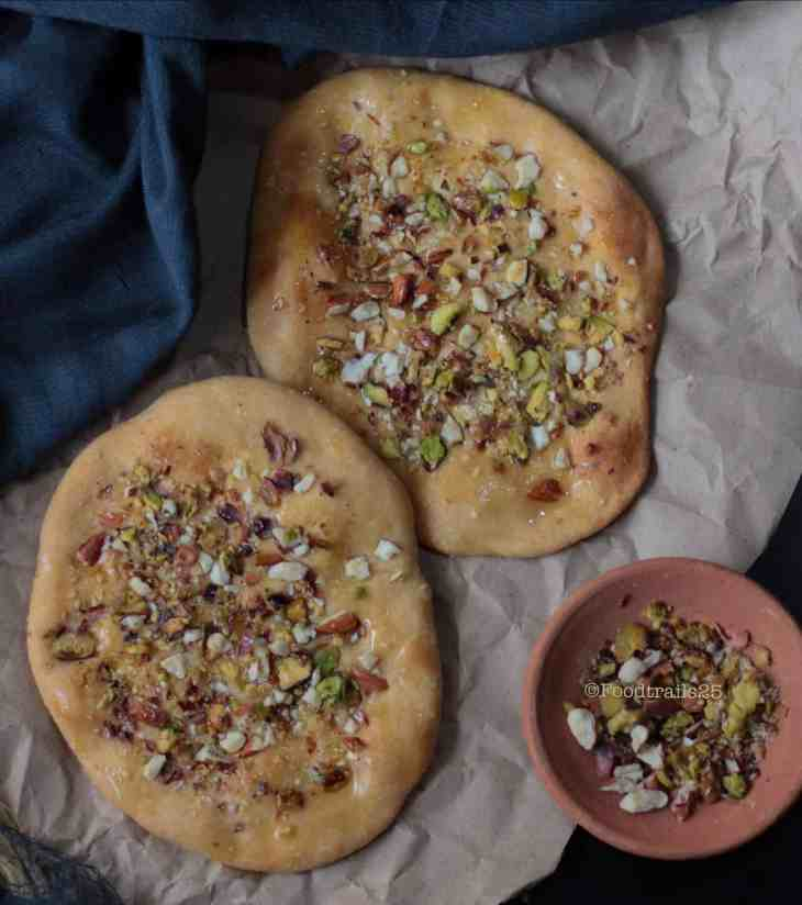 Sheermal Topped with Nuts and Baked