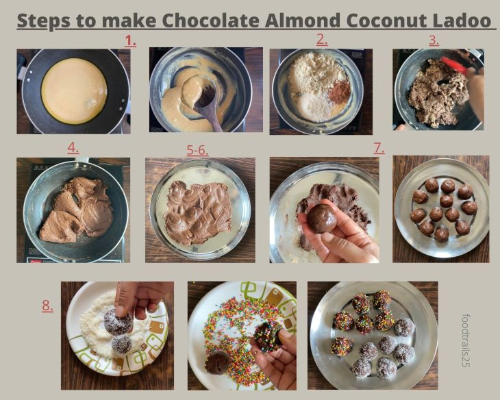 How to make Chocolate Coconut Ladoos