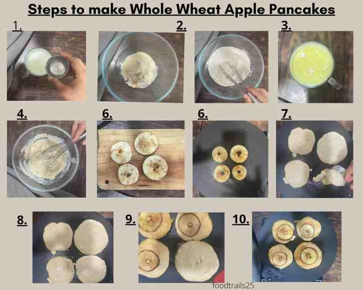Steps to make Whole Wheat Apple Pancakes