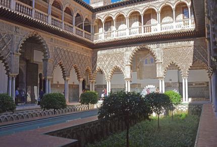 Bezoek Real Alcázar, het koninklijk paleis in Sevilla