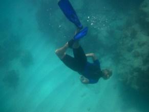 Allison snorkeling