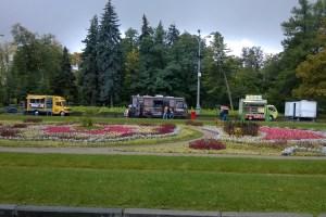Фестиваль фудтраков в парке Сокольники.