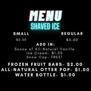Ice-Edelic menu