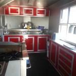 food trailer inside