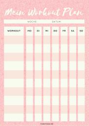 Workout Plan Vorlagen